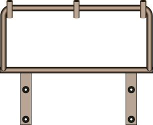 5' rail with pole holders